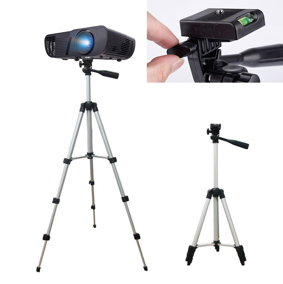 1pc Portable Extendable Tripod Stand Aluminium Alloy Adjustable Cameras Tripod For Mini Projector DLP Camera 35cm-102cm Mayitr
