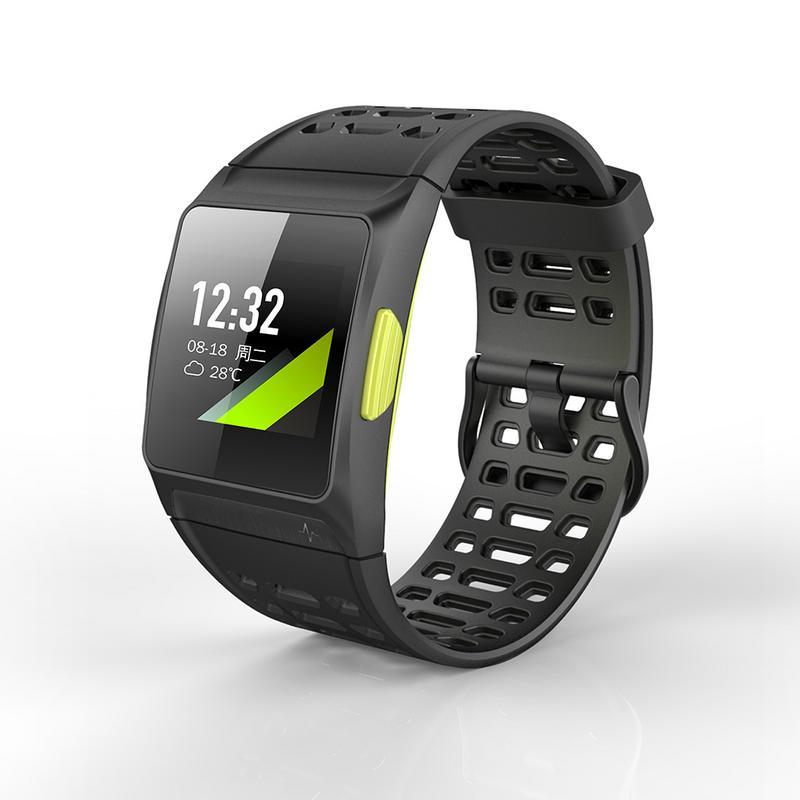 Montre intelligente de fréquence cardiaque de Cicret de traqueur de GPS de tension artérielle de montres de Bracelet de forme physique imperméable