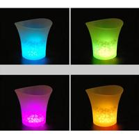 MagiDeal 3pcs/set Pink + Blue + Green Color LED Colors Changing Ice Bucket Beer Holder Champagne Cooler Hotel Club