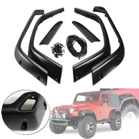 2019 New 6pcs/Set For Jeep 98 06 For Wrangler TJ 7 Wide Style Protector For Fender Flares UV protected