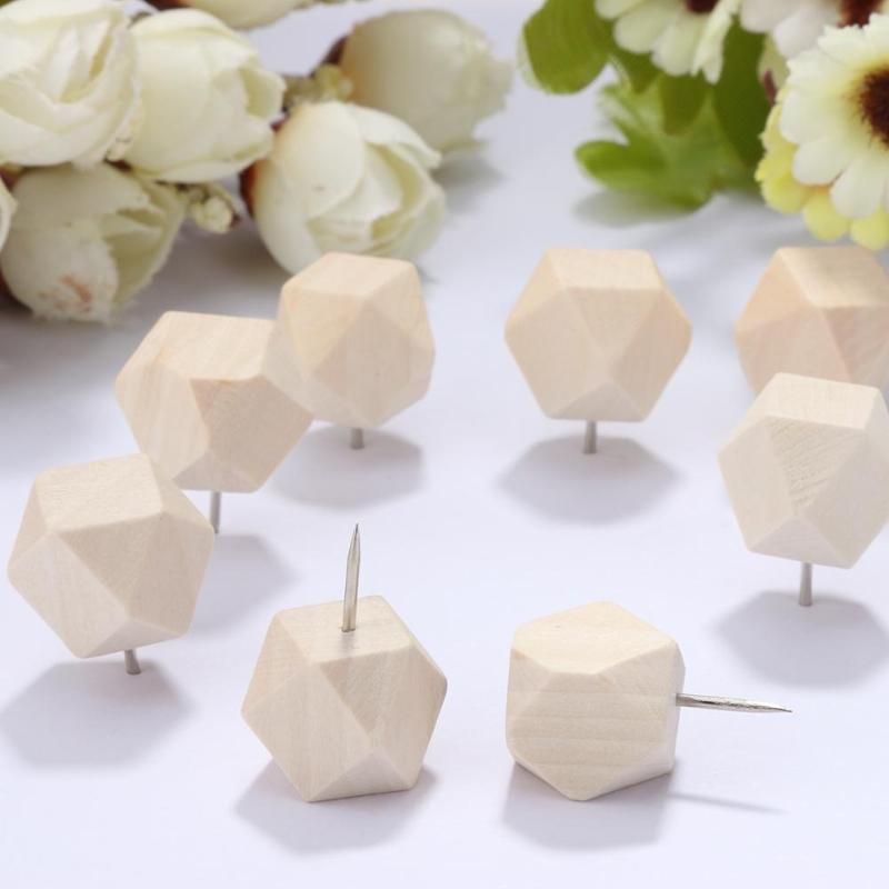 VODOOL Wooden Thumbtack Drawing Push Pins Wood Head Positioning Needle Nail Pins 60/100/80/50/15/115 Thumbtacks
