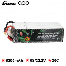Gens ace Lipo Battery 6S 5300mAh 30C 60C Lipo 22 2V Battery Pack for Align Helicopter