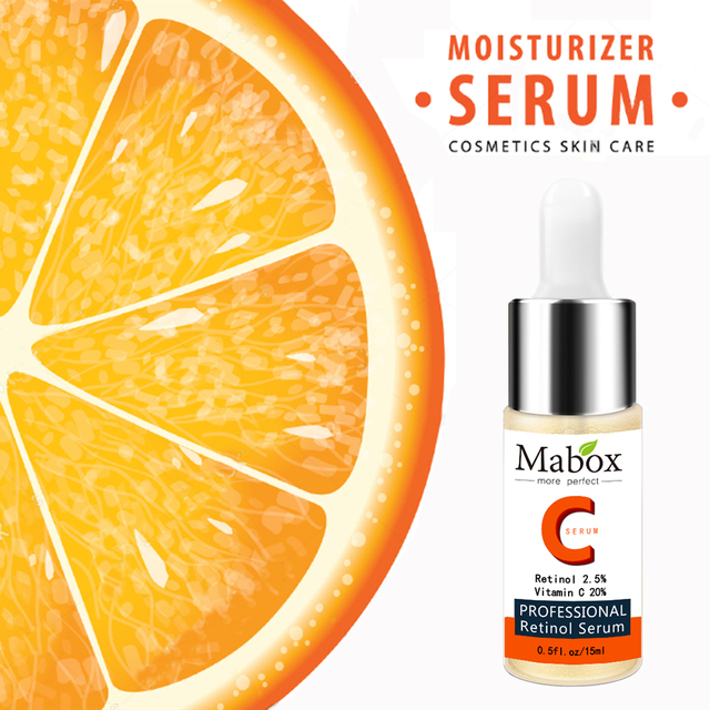 Mabox Vitamin C Whitening Serum Hyaluronic Acid Face Cream Remover Acne Treatment Fade Dark Spots Anti-Aging Skin care