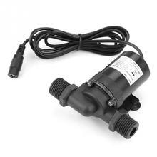 Baixo ruído mini bomba de água sem escova dc 12 v JT 660D 12 fluxo 1000l/h bomba submersível para aquecedor de água solar venda quente