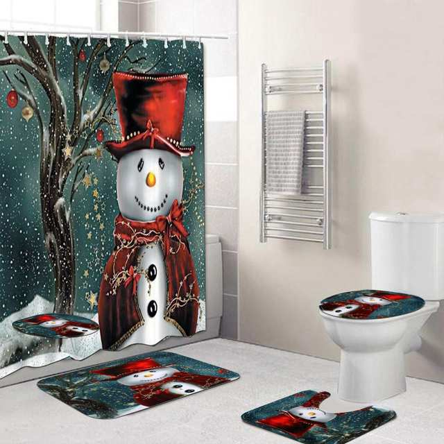 Merry Christmas Bathroom Set 4