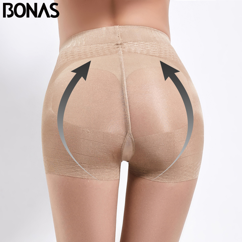 BONAS 40D Sexy Breathable Tights Women High Waist Panty Pantyhose Sexy Tights Nylon Stretchy Slim Thin Stockings Female Collant in Tights from Underwear Sleepwears