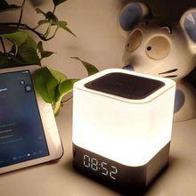 Clock Bluetooth Speaker,Night Light Speaker,Color Changing Speaker,Touch Sensor Bedside Lamp Dimmable Warm Light,Nig