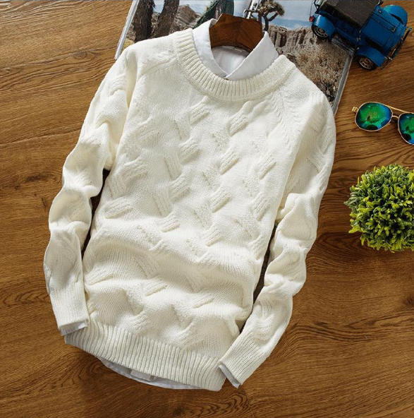 Solid Knitted Sweater Men Pulover Wool Christmas Sweater Men Knitwear Male Sweater Pullover Men Clothes  Winter