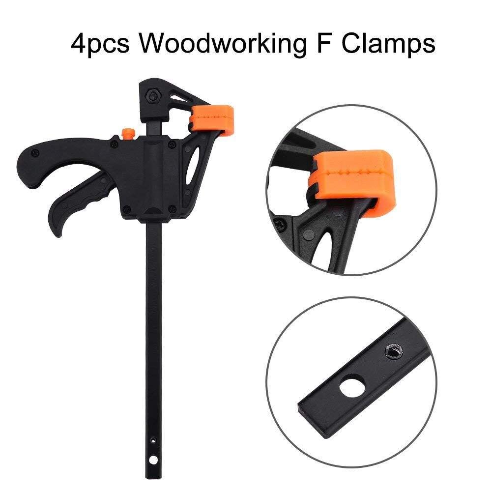 Plastic F clamps set 4-piece