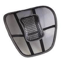 Mesh Cloth Car Seat Cushion Lumbar Waist Support Lumbar Pillow Automobiles Office Chair Relief Back Pain Auto Accessories Black(China)