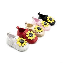 New Arrival Baby Girl Shoes Flower Toddler Spring / Autumn Infant PU Girls First Walkers Moccasins Pink Red