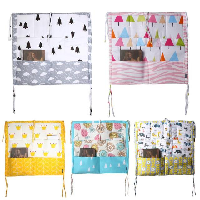 60*50cm Muslin Tree Bed Hanging Storage Bag Baby Cot Bed Baby Cotton Crib Organizer Toy Diaper Pocket for Crib Bedding Set | Happy Baby Mama