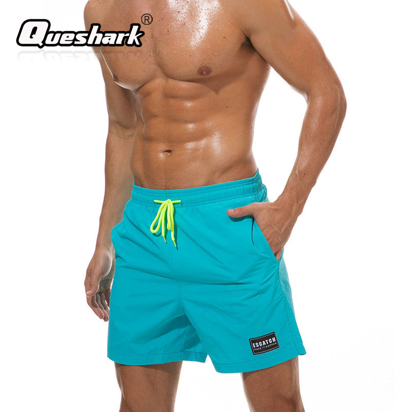 67050997af 12 Solid Colors Mens Swim Shorts Nylon Light Thin Swimsuits Summer Quick Dry  Surfing Beach Board Shorts Man Swimwear