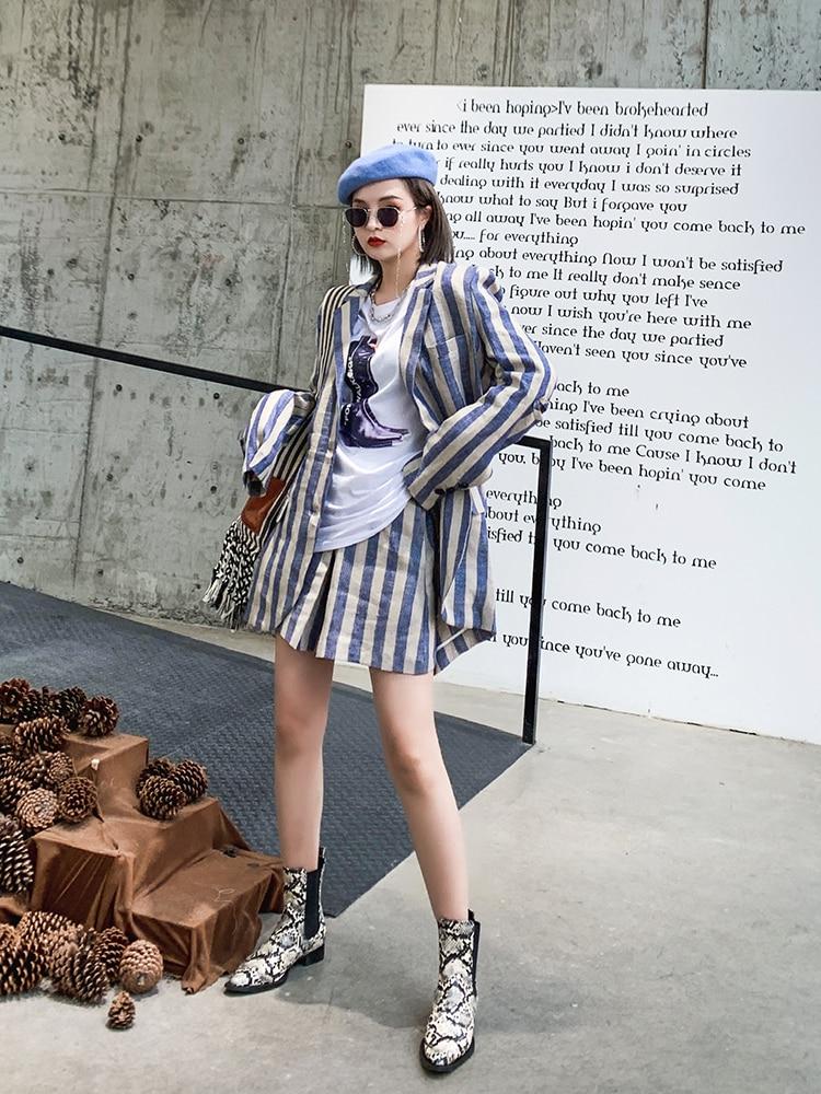 Picture Large Nouveau Printemps Mode Petit Slim Za011605 Pour Rayé 2019 as Leggings Femme Veste Robe Costume Vintage As Vêtement Deat Picture Revers 1xwzqFAF