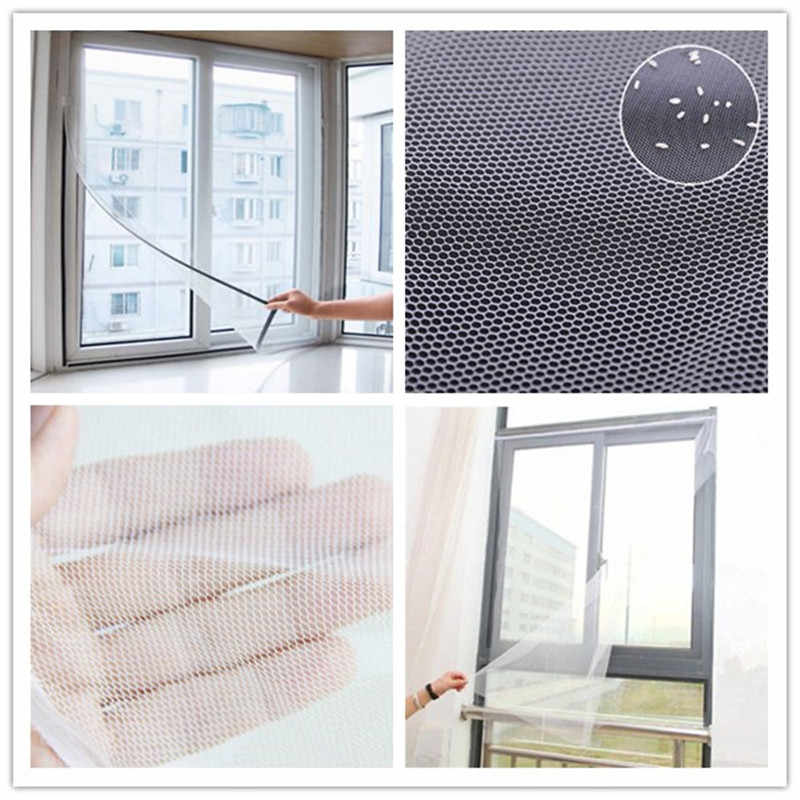 130x150cm DIY Insect Fly Mosquito Windows Net Mesh Screen Curtains  Protector Flyscreen Worldwide Anti-Insect Door Curtain