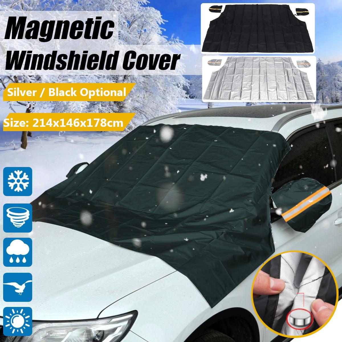 214x146x178cm Car Magnetic Pickup Trucks SUV Windshield Snow Sun Dust Cover Ice Frost with Mirror Protector Shield