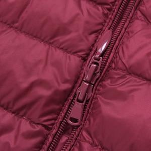 Image 4 - Marka NewBang dół kurtki kobiet długi, z kaczego puchu kurtki kobiety lekki ciepły Linner, szczupła, przenośna damskie płaszcze