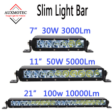 30w 50w 100w Led Light Bar Driving Work Barra LightBar 12v 24v for Offroad SUV Motorcycle Boat Car 4WD Mini