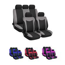 Universal 9 unid/set cubierta de asiento de coche delantero trasero transpirable cómodo resistente al desgaste cubiertas para asiento GM