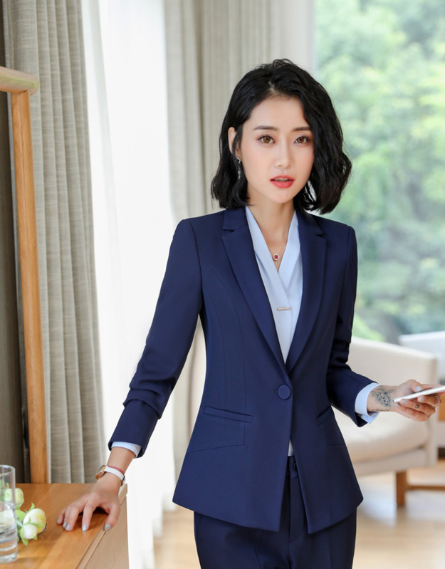Blue Black Jackets Suit Coats Slim Fit Blazer Women Formal Jackets Office Work Notched Ladies Blazer Coat Feminino Abrigo Mujer Comfortable Feel
