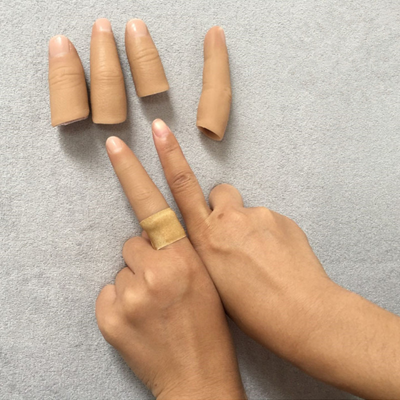 One finger Human body simulation prosthetic hand silicone finger glove customized fake finger sleeveOne finger Human body simulation prosthetic hand silicone finger glove customized fake finger sleeve