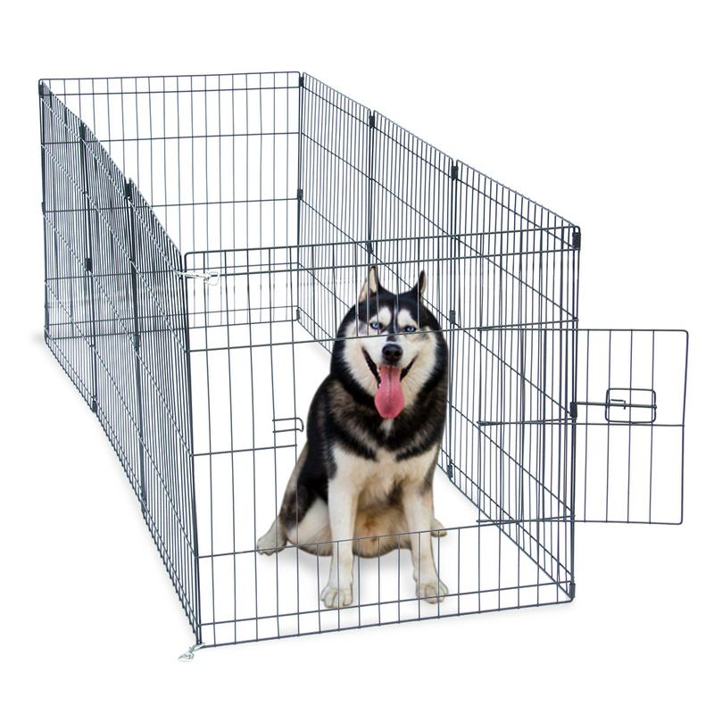 24-tall-wire-fence-pet-dog-cat-folding-exercise-yard-8-panel-metal-play-pen-pet-puppy-kennel-cage-indoor-outdoor-cage