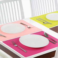 New Hot Placemat Silicone Kitchen Table Mats Thick Non Slip 6 Color