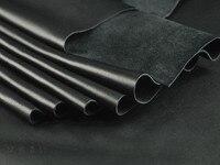 Импортный первый слой кожи черного цвета из мягкой кожи