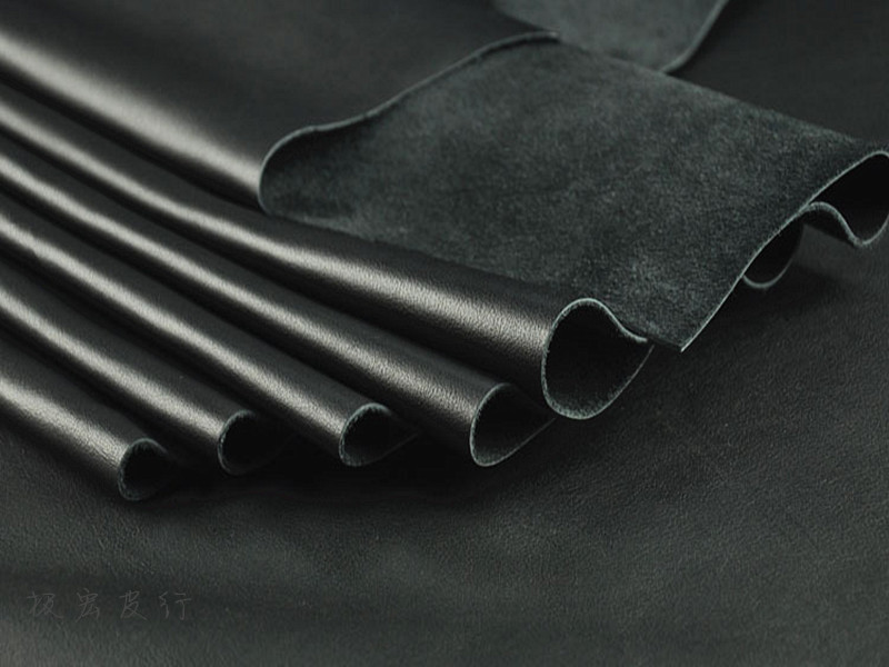 Import The First Layer of Leather Black Soft Whole