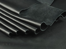 Import The First Layer of Leather Leather Black Soft Whole