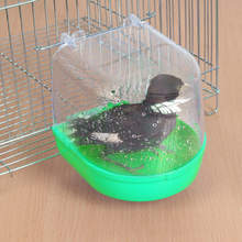 Bird Feeders Water Bath Tub For Pet parrots cage Bathtub Cage Hanging Bowl Supplies