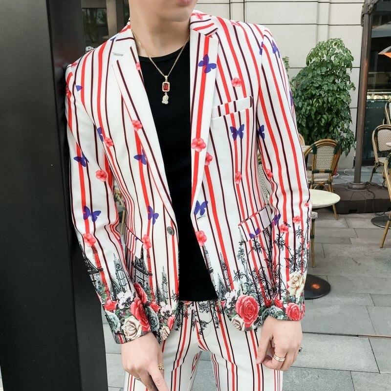 Aktiv 3 Stücke Anzug Männer Floral Anzug 2018 Abito Uomo Cerimonia Kostüm Mariage Homme Casual Männer Anzug Business Smoking Slim Fit Anzug Anzüge