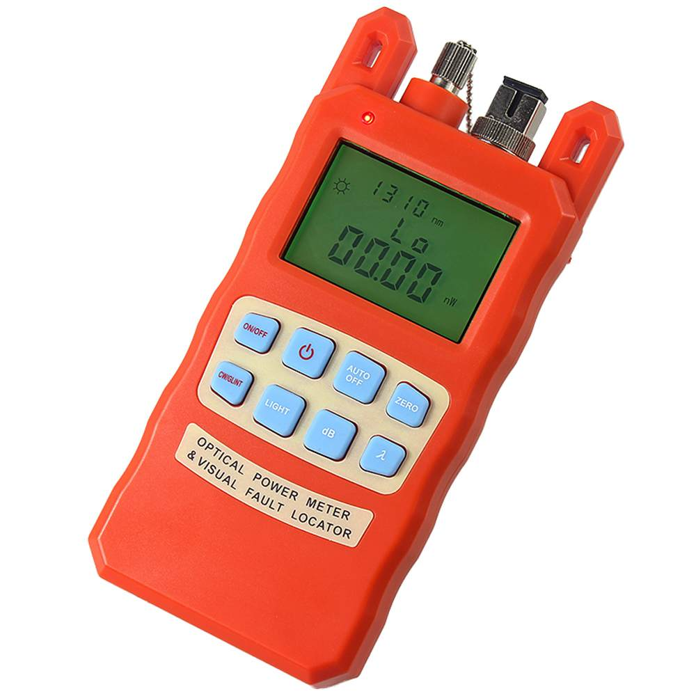 Medidor de potencia óptica, localizador visual de fallos 2in1 1-5 km, 10 km rojo fuente de luz de fibra óptica de combinación AUA-70AC