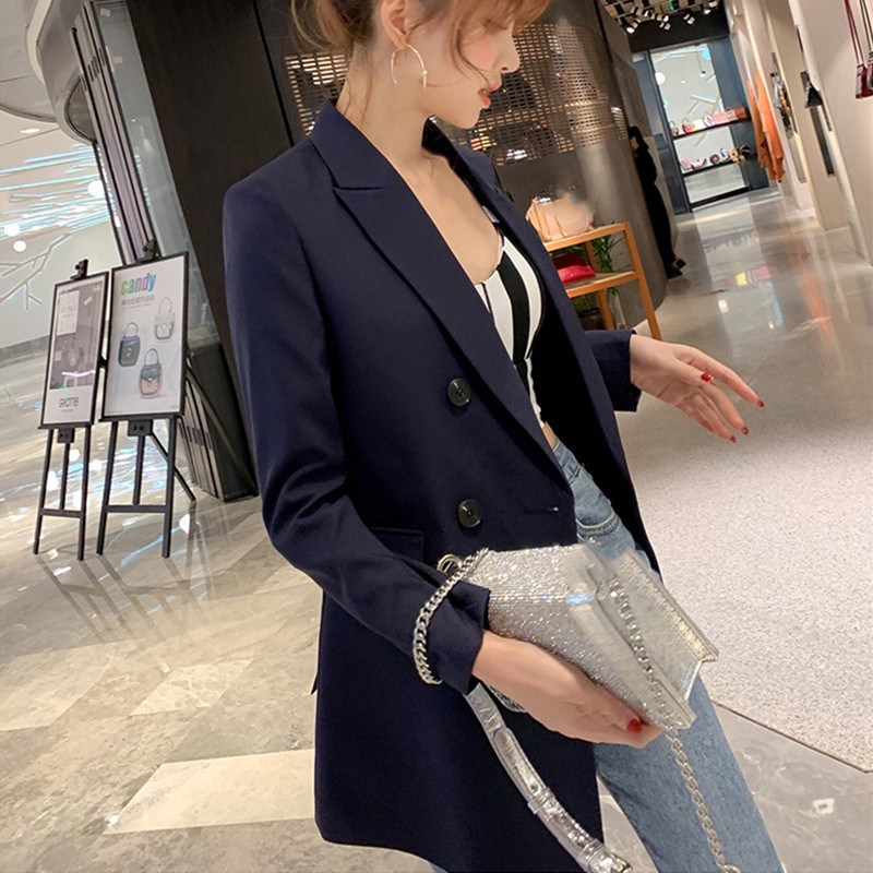 Blue Green Women Blazers And Jackets 2019 New Spring Fashion Blazer Femenino Ladies Female Blazer