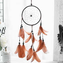 Indian true plumage brown dream catcher pendant maiden heart pendant lover friend student gift té russ dream lover