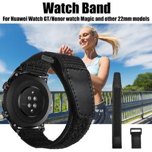 Image 2 - 22mm 매직 루프백 나일론 시계 스트랩 시계 화웨이 나일론 스트랩 화웨이 시계 gt 패션 가볍고 착용하기 쉬운 새로운