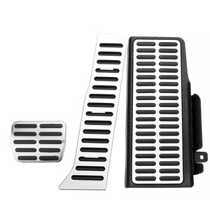 3Pcs Stainless Steel Car Fuel Accelerator Brake Foot Rest Footrest Pedal Pad Covers AT For Volkswagen ForVW Passat B6 B7L CC LHD(China)