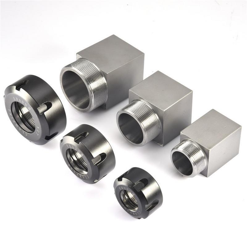 ER25/ ER32/ ER40 Square Collet Chuck Block Holder For CNC Lathe Engraving Machine Cross Hole Drilling