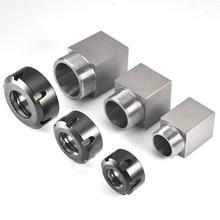 Portabrocas cuadrado ER25/ ER32/ ER40 para máquina de grabado del torno CNC, perforación de agujeros cruzados