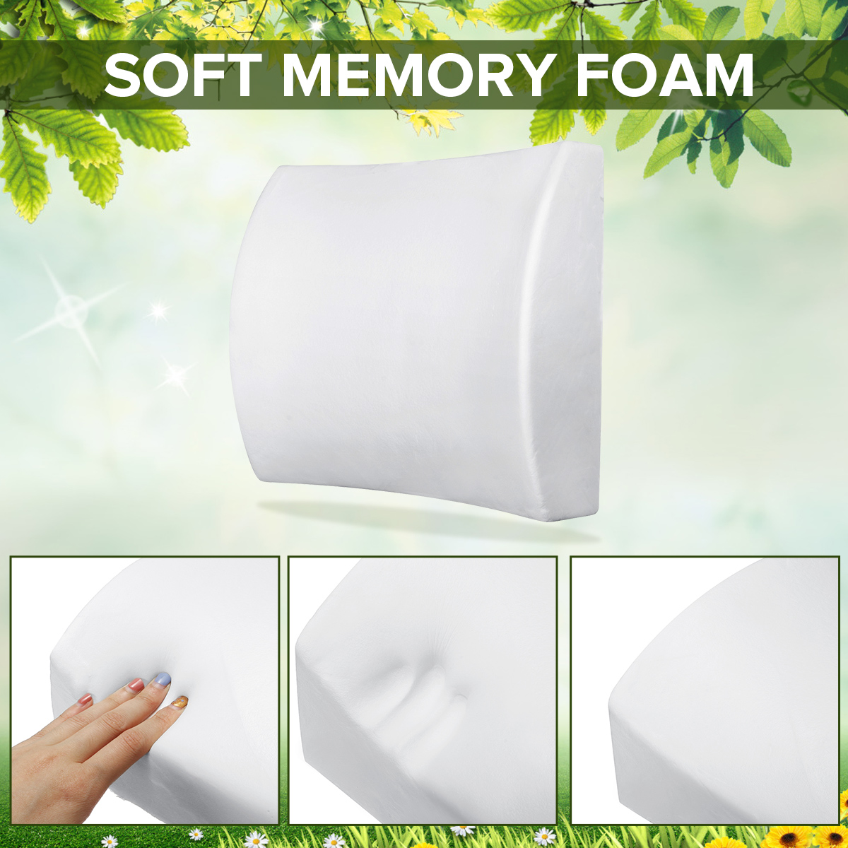 6 Color Lumbar Pillows Made Of Soft Foam For Car Seat To Support And Relieve Back Pain 2