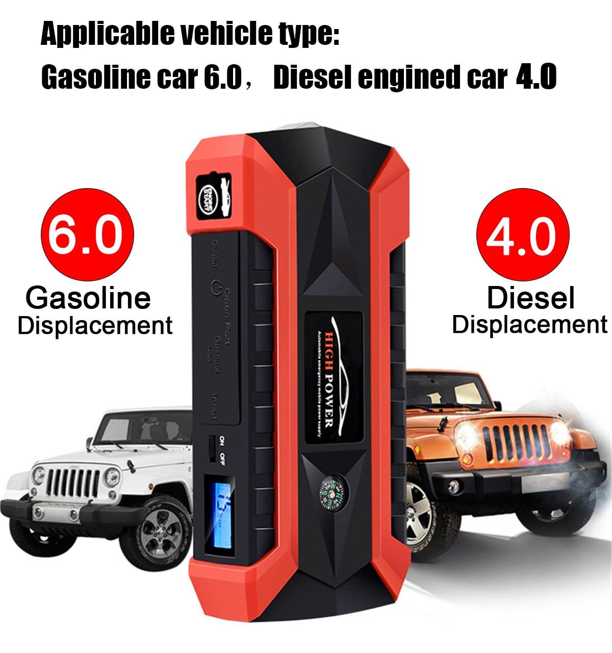 89800 мАч 4USB автомобиль пусковые устройства универсальный аварийное зарядное устройство батарея запасные аккумуляторы для телефонов Pack Booster ...