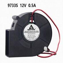 ГДТ постоянного тока 12В 9733S безщеточный вытяжной вентилятор воздуходувки для Loptop 2Р 97мм 33 мм 9733 воздушного потока охладителя