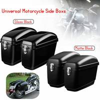 Pair 30L Large Motorcycle Saddle Bags Side Boxs Luggage Tank Hard Case For Harley Cruisers For Kawasaki for Honda