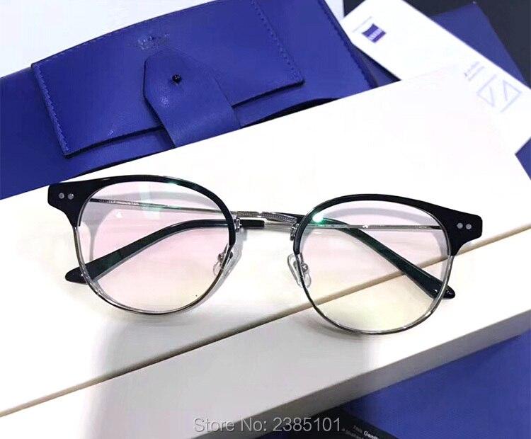 Optique classique doux lunettes cadre Prescription myopie lunettes demi cadre ordinateur femmes hommes lunettes lunettes à verres transparents - 2