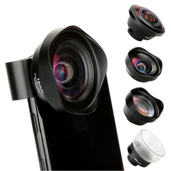 PHOLES 4 In 1 Cell Phone Camera Lens Kit Wide Angle Telephoto Lens Macro Fisheye Lenses For Iphone Xs Max X 8 Huawei P20 Pro
