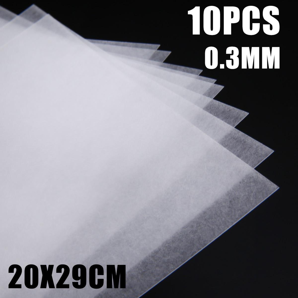 10pcs/set Translucent Heat Shrink Film Sheets Scrapbooking Paper DIY Jewelry Making Craft Decor Cards Rough Polish Board