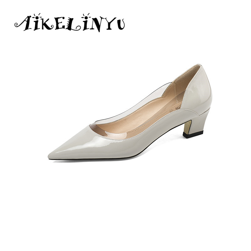 AIKELINYU 2019 Classic Pure Colour Womens Pumps High Quality Cow Leather Sexy Pointed Toe New Shoes Wedding Sexy Hot Sale PumpsAIKELINYU 2019 Classic Pure Colour Womens Pumps High Quality Cow Leather Sexy Pointed Toe New Shoes Wedding Sexy Hot Sale Pumps