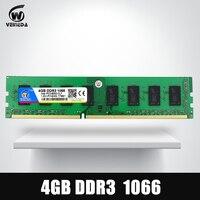 VEINEDA оперативной памяти DDR3 4 ГБ 1066 мГц ddr 3 4 ГБ PC3-8500 Memoria 240pin совместимый 1333 1600 для AMD Intel Desktop