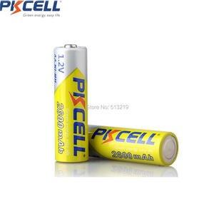 Image 3 - 4 PKCELL Pin AA 1.2V 2300Mah 2600MAH AA NI MH Pin Sạc Aa Batteria Và 1 Chiếc Pin Cầm Ốp Lưng