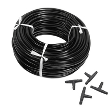 цены 20m 4/7mm Hose Garden Water Micro-Irrigation Pipe With 20 Pcs Tee Connectors Gardening Lawn Agriculture Sprinking Drip Tube